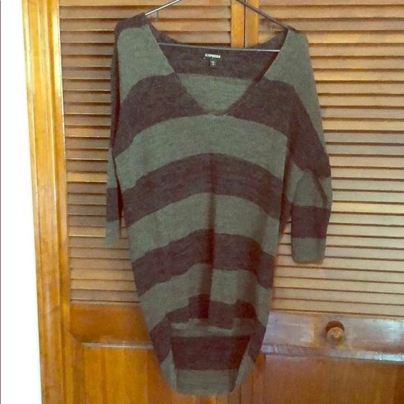 Express Sweaters - Express oversized v-neck sweater, small, like new